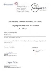 Zertifikat Demenz